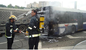 Bus Burned