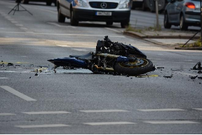 Crashed Motorcycle